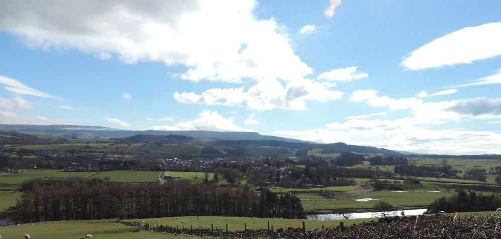Pendle Hill view fromNational Cycle Network Route 90