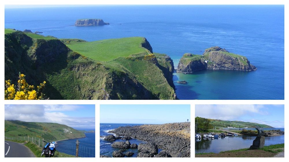 Northern Ireland Coastal Tour collage with a number of images of place en-route